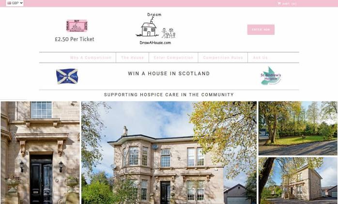 Win a Large Period House in Airdrie, Scotland