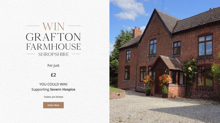 Win a Six Bedroom Grade II Listed Farmhouse in Shropshire