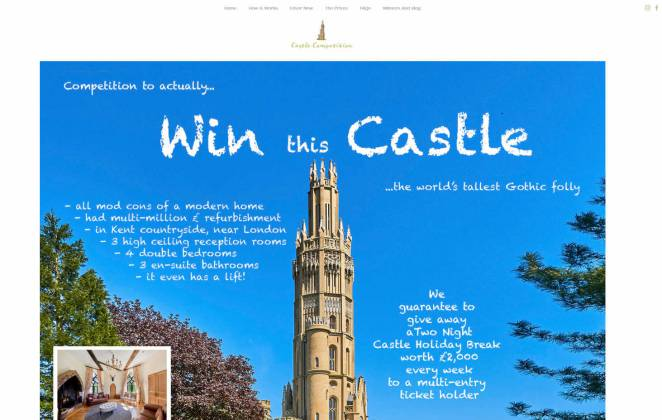 Win Eight Storey Hadlow Tower Castle in Kent