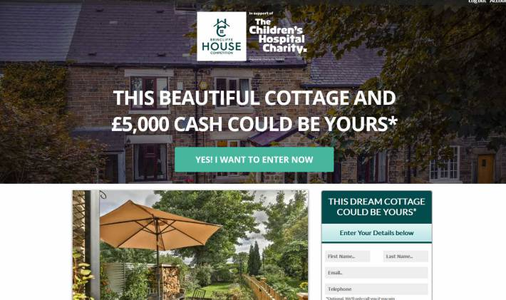 Win a Stone Cottage near to Sheffield and Peak District