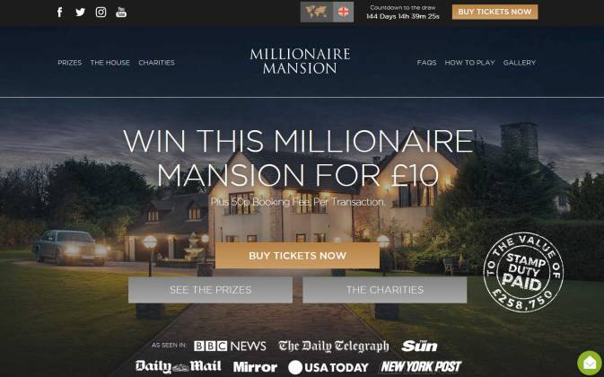 Win a Mansion and 10 acre estate in Devon