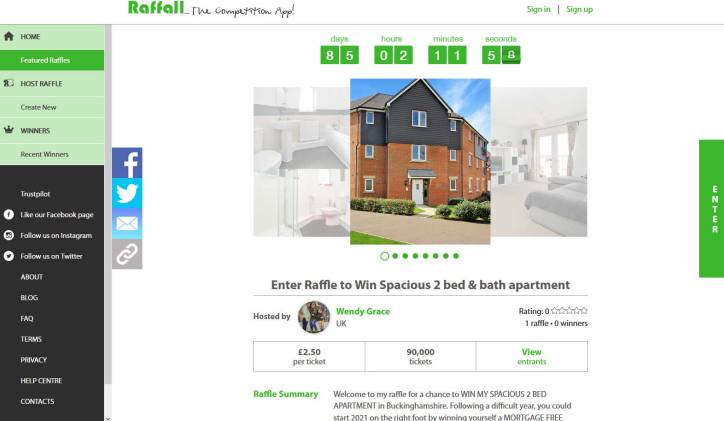 Win an Apartment with Two Bedrooms in Buckinghamshire