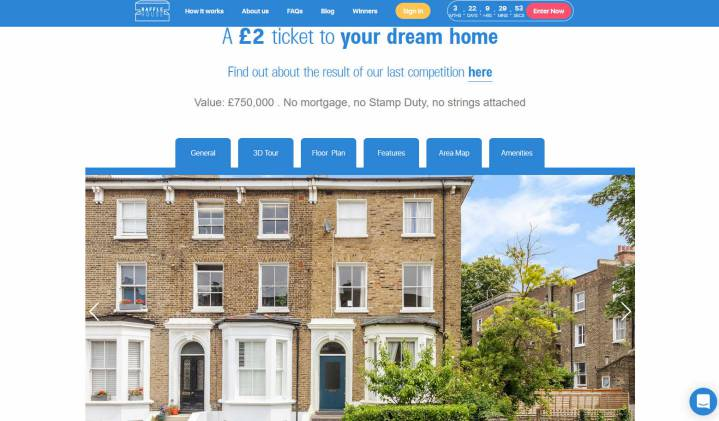 Win a Two Storey Flat in a Character South London Town House