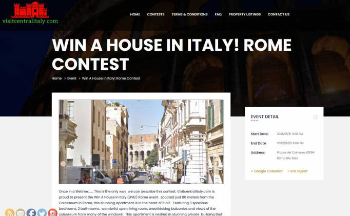 Win an Apartment in Rome within Sight of the Colosseum