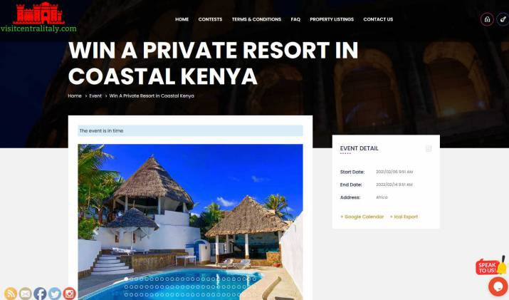 Win a Villa with Pool in a Kenyan Coastal Resort