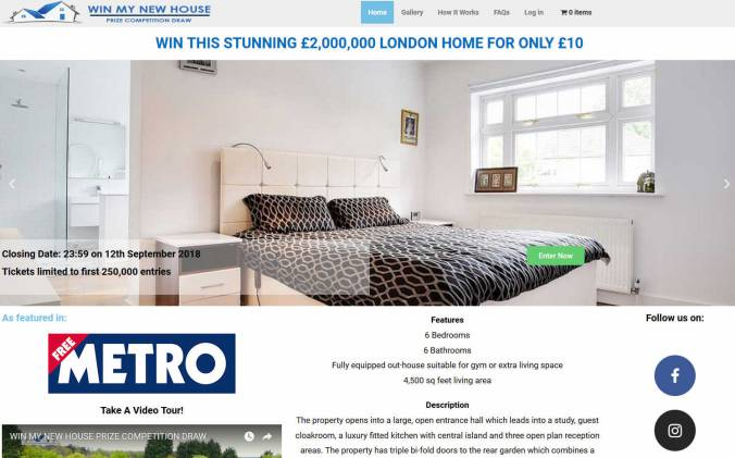 Win a Modern 6 Bed House in the Suburbs of London