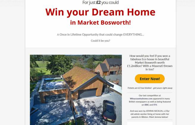 Win a Modern Luxury Eco House in Market Bosworth