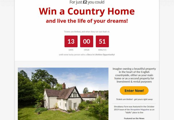 Win an Impressive Rural farmhouse near Shrewsbury in Shropshire