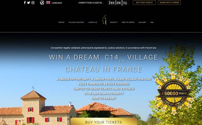 Win a French Chateau in south east France near to Bordeaux