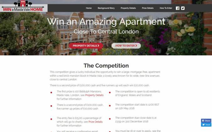 Win a Red-brick Mansion Apartment in Maida Vale