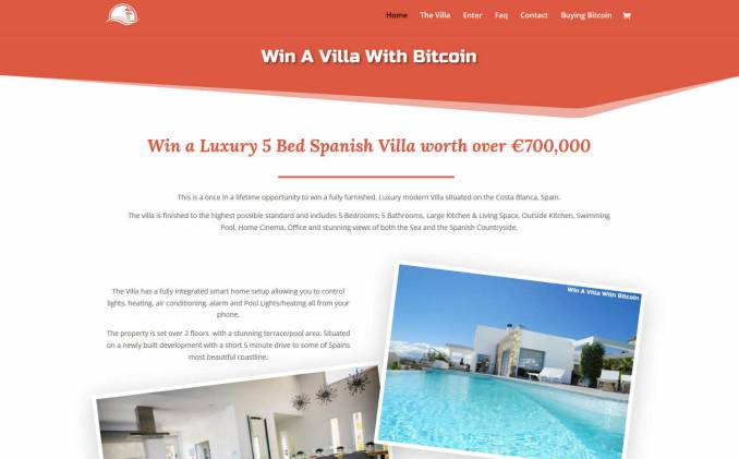Win a Large Villa on the Coast Blanca in Spain
